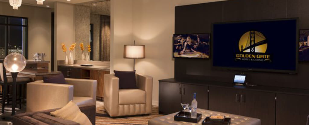 One of two penthouse suites available at Golden Gate Hotel & Casino.