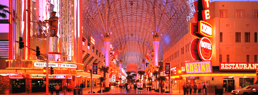 Fremont Street Experience in Las Vegas at Night
