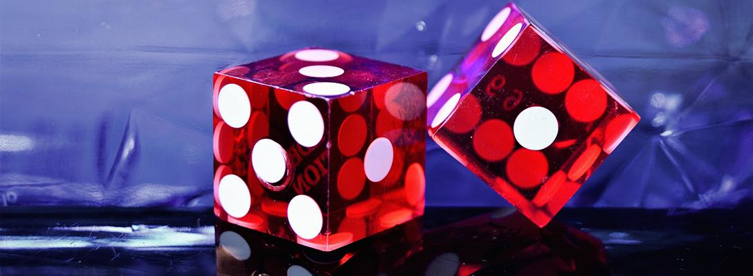 Red Dice at Las Vegas Casino