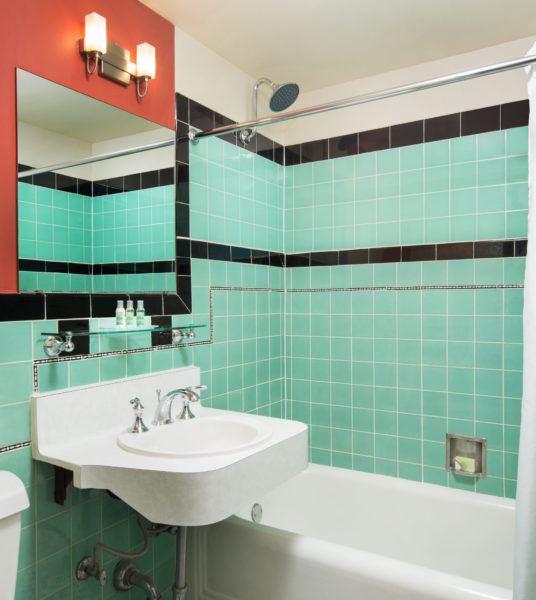 Standard Guest Room Bathroom with Vintage Tile