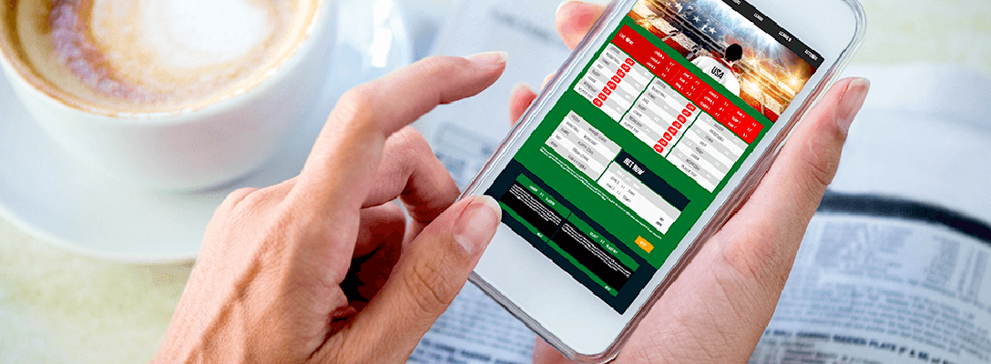 Person Researching Sports Betting Predictions on Phone